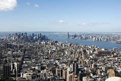 Manhattan sikt från Empire State Building Fotografering för Bildbyråer