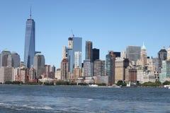 Manhattan sikt från fartyget - New York Royaltyfria Bilder
