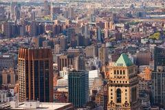Manhattan sikt från taket Arkivbild