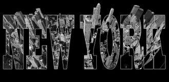 Manhattan sikt på New York stock illustrationer