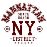 Manhattan skater board Stock Photos