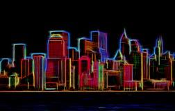 Manhattan sklyline Royaltyfri Foto