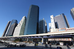 Manhattan sky scrapers. New York, USA. Royalty Free Stock Photos