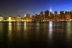 Free Manhattan Skyline Royalty Free Stock Photography - 10029057