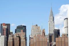 Manhattan skyline Stock Photography