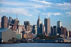 Manhattan skyline. A shot of new york city skyline at night Stock Photos