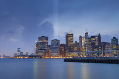 Manhattan Skyline. Royalty Free Stock Image