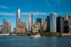 Manhattan-Skyline Stockfotos