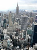 Manhattan skyline. View from the Rockefeller center Stock Photography
