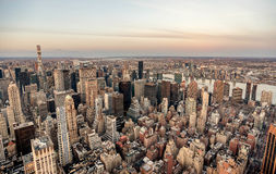 Manhattan skyline from above, New York City Stock Photo