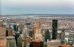 Manhattan skyline from above, New York City Royalty Free Stock Photos