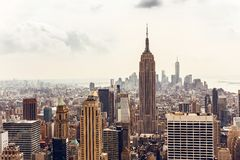 Manhattan skyline aerial view Stock Photo