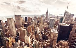 Manhattan skyline aerial view Stock Photography