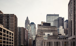 Manhattan skyline aerial view Royalty Free Stock Photo