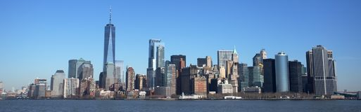 Manhattan Skyline and One World Trade Centre Stock Image