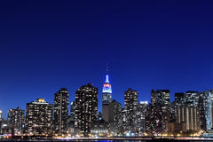 Free Manhattan Skyline At Night, New York City Stock Photography - 28248612