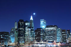 Free Manhattan Skyline At Night, New York City Stock Photos - 28954113