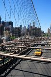 Manhattan skyline from the Brooklyn bridge Stock Photography