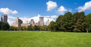 Manhattan skyline from the Central Park Stock Image