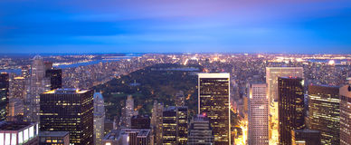 Manhattan skyline and Central Park Royalty Free Stock Photography