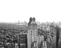 Manhattan skyline and Central Park Royalty Free Stock Photo