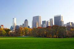 Manhattan skyline and Central Park Stock Images