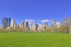 Manhattan skyline from Central Park, New York City Royalty Free Stock Image