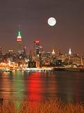 Manhattan Skyline at Christmas Eve Stock Image