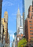 Manhattan Skyline with Chrysler Building in the spring, NYC Royalty Free Stock Photos