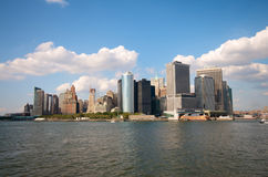Manhattan Skyline by day Stock Images