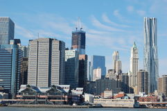 Manhattan Skyline Downtown Stock Photography