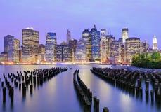 Manhattan skyline downtown Stock Image