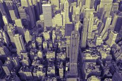 Manhattan Skyline in Duotone Royalty Free Stock Photos