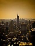 Manhattan Skyline at Dusk Royalty Free Stock Photo