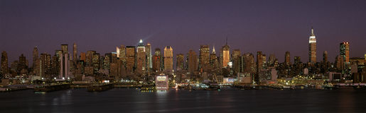 Manhattan skyline at dusk Stock Photo