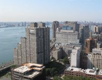 Manhattan skyline with East River Royalty Free Stock Images