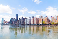 Manhattan skyline and East River. Stock Images