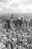 Manhattan skyline. From empire state building in black and white stock photos