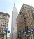 Manhattan Skyline with Empire State Building, New York City, USA. Royalty Free Stock Images