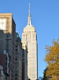Manhattan Skyline with Empire State Building, NYC Stock Photo