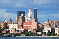 Manhattan Skyline with Empire State Building over Hudson River, NYC. stock photography
