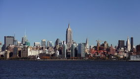 Manhattan Skyline with Empire State Building USA cityscapes stock video footage