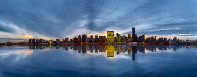 Manhattan Skyline at the evening Stock Photography
