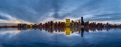 Manhattan Skyline at the evening Stock Photography
