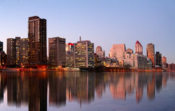 Manhattan Skyline at the evening Royalty Free Stock Image