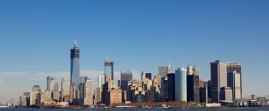 Manhattan Skyline in Fall Royalty Free Stock Photography