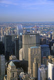 Manhattan skyline featuring the Met Life Building, New York City, NY Royalty Free Stock Photos