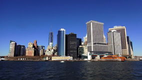 Manhattan Skyline Financial District of Manhattan Downtown USA cityscapes stock footage