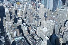 Manhattan skyline Garment District New York City. NEW YORK CITY, USA - OCTOBER 28: New York City Garment District Rooftops panorama viewed from Famous New York Stock Photos