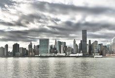 Manhattan skyline HDR. HDR view of the Manhattan skyline Royalty Free Stock Photos